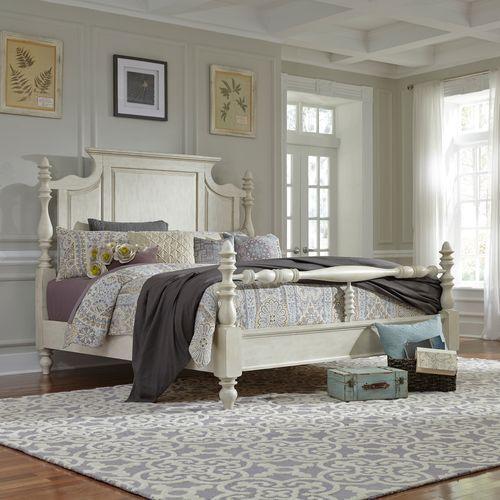 King Poster Bed, Dresser & Mirror