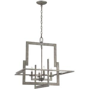 4-lite Chandeliers, Ant Silver, E12 Type B 60wx4
