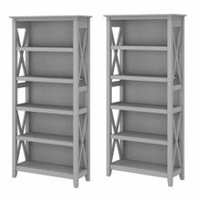 See Details - 5 Shelf Bookcase Set, Cape Cod Gray