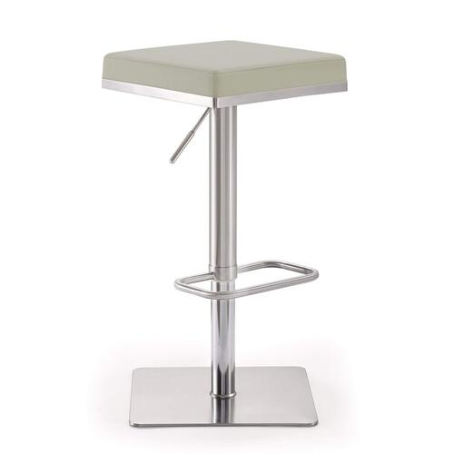 Tov Furniture - Bari Light Grey Stainless Steel Barstool