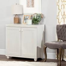 2-Door Storage Cabinet - White Wash