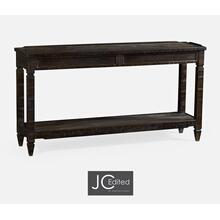 See Details - Dark Ale Console Table with Drawers
