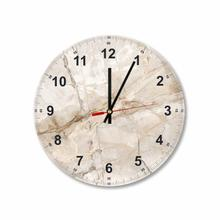 Beige Marble Round Square Acrylic Wall Clock