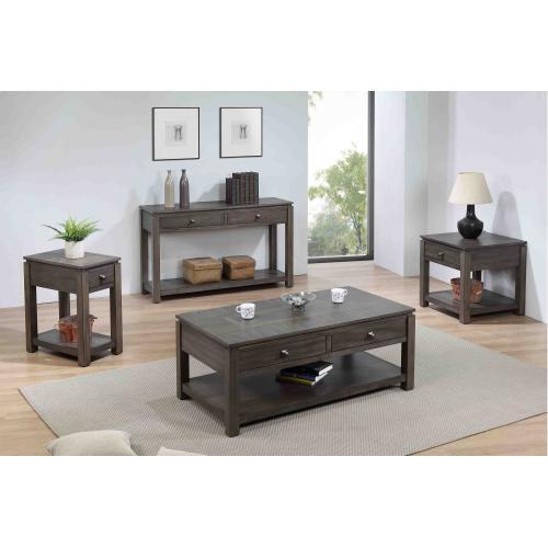 Living Room Set - Shades of Gray (4 Piece)