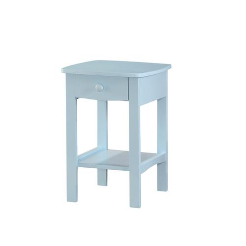 1 Drawer Nightstand-pastel Blue