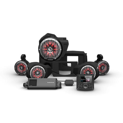 Rockford Fosgate - PMX-3, 1500 Watt, Front Color Optix™ Speaker, Subwoofer & Rear Speaker Kit for Select Polaris® RZR® Models (Gen-3)