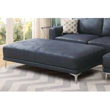 Grant XL Cocktail Ottoman, Ink-blue-leatherette