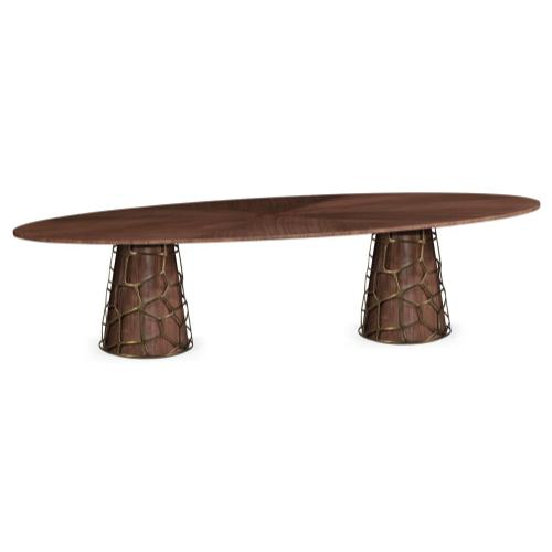 118'' Long Oval Dining Table