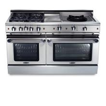 """See Details - 60"""" six burner gas self-clean range w/ 24"""" Thermo-Griddle™ Power-Wok™ + convection oven - NG"""