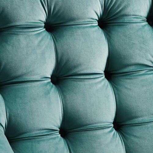 Suggest Button Tufted Performance Velvet Lounge Chair in Teal