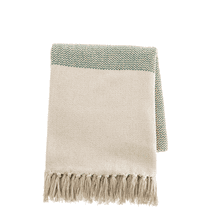 See Details - Dark Green Color Block Woven Throw