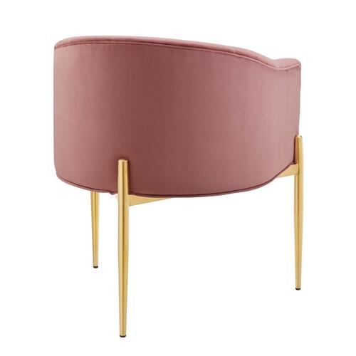 Savour Tufted Performance Velvet Accent Chair in Dusty Rose