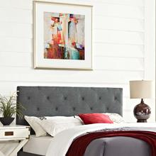 View Product - Terisa King Upholstered Fabric Headboard in Gray