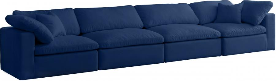 "Cozy Velvet Cloud Modular Down Filled Overstuffed 158"" Sofa - 158"" W x 40"" D x 32"" H"
