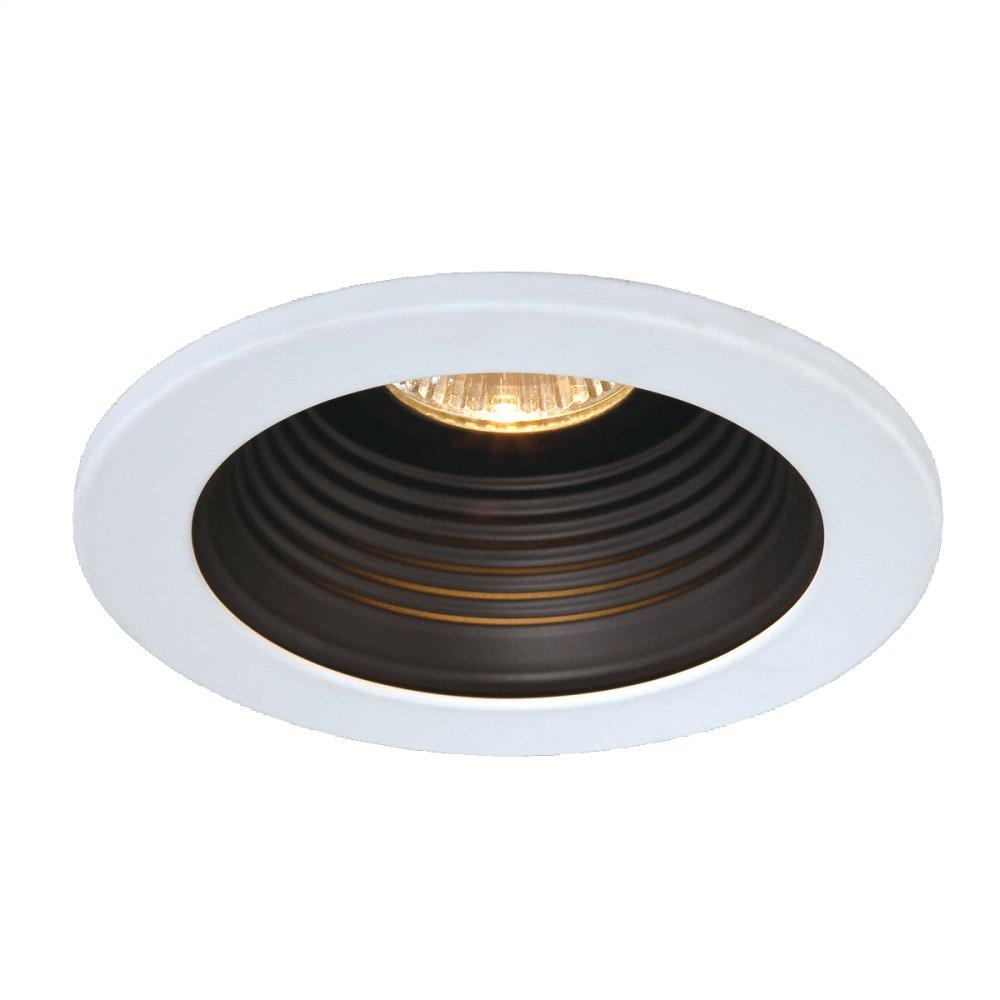 See Details - TRIM,4-INCH STEPPED BAFFLE - White