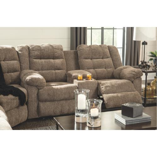 Gallery - Workhorse Reclining Loveseat With Console