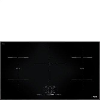 "92 CM (approx. 36""), Induction cooktop, black, standard building type"