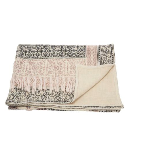 "Throw Bx090 Natural 50"" X 60"" Throw Blanket"