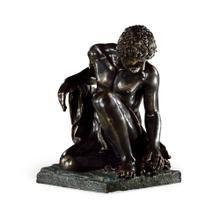 Antique Dark Bronze Greek Statue