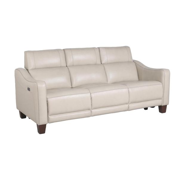 See Details - Giorno Dual-Power Leather Sofa, Ivory