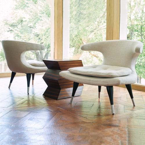 Anvil Lounge Chair-Muslin