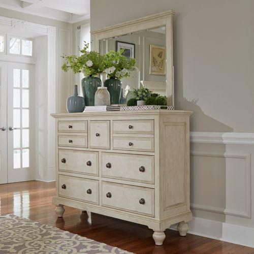 Liberty Furniture Industries - King Panel Bed, Dresser & Mirror, Chest, Night Stand