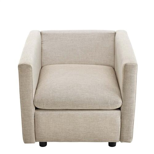 Modway - Activate Upholstered Fabric Armchair in Beige