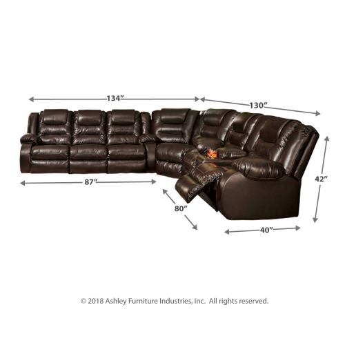 Signature Design By Ashley - Vacherie 3-piece Reclining Sectional