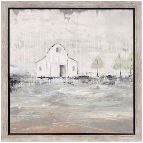 Style Craft - IOWA BARN I  34in w X 34in ht  Textured Framed Print  Made in USA