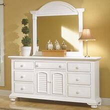 Seven Drawer Triple Dresser and Dressing Mirror