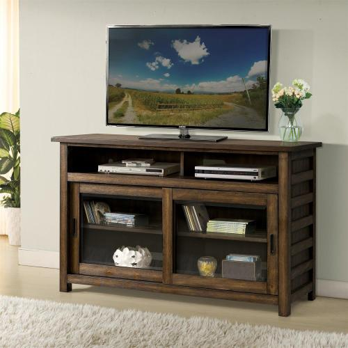 Riverside - Perspectives - 54-inch TV Console - Brushed Acacia Finish