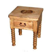Spindle Leg Star End Table