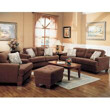 "LOVESEAT ,BROWN/F 66""Lx39""Wx36""H"