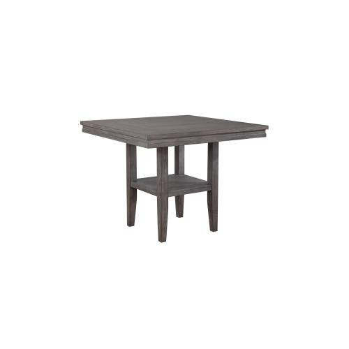Square Pub Table Set w/Storage Shelf - Shade of Gray (5 Piece)