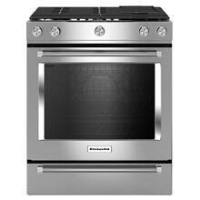 See Details - KitchenAid® 30-Inch 5-Burner Dual Fuel Convection Front Control Range with Baking Drawer - Stainless Steel