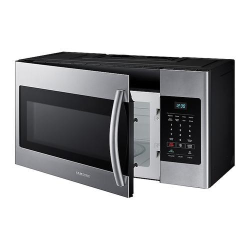 Samsung - 1.6 cu. ft. Over-the-Range Microwave in Fingerprint Resistant Stainless Steel