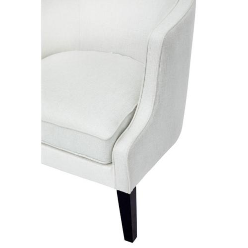 Upholstered Barrel Arm Chair in Natural White
