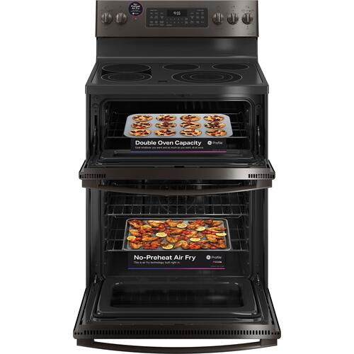 """Gallery - GE Profile™ 30"""" Smart Free-Standing Electric Double Oven Convection Range with No Preheat Air Fry"""