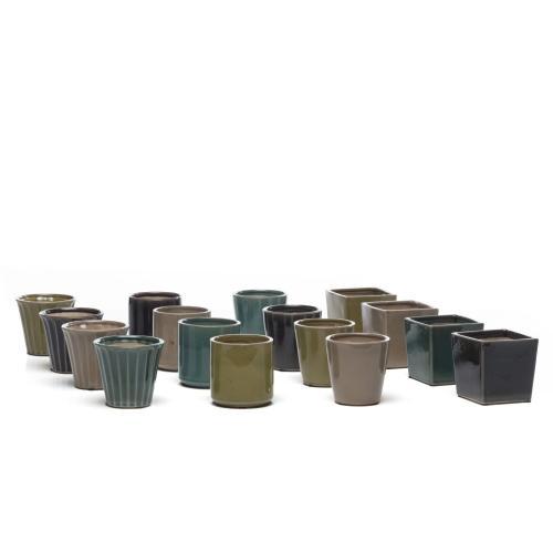 Pullet Mini Grdn Pot Assrt 4 shape 4 clrs 3ea 48pc