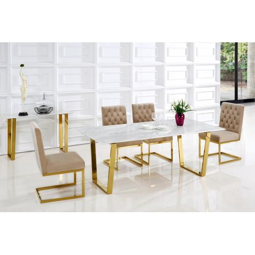 "Cameron Gold Dining Table - 78"" W x 39"" D x 30"" H"