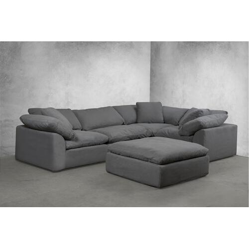 Cloud Puff Slipcovered Modular Sectional Sofa - 391094 (5 Piece)