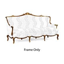 Three Seater Sofa with Gilded Carving, Frame Only