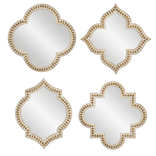 Beaded Framed Geo Wall Mirror (4 pc. ppk.)