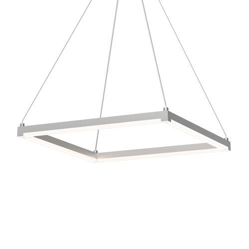 "Sonneman - A Way of Light - Stix Square LED Pendant [Size=19"", Color/Finish=Bright Satin Aluminum]"
