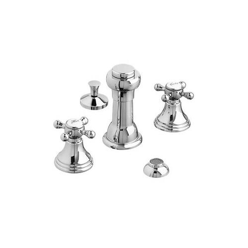 Dxv - Ashbee Bidet Faucet with Cross Handles - Polished Chrome