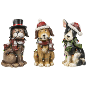 Christmas Dog Figurines (6 pc. ppk.)