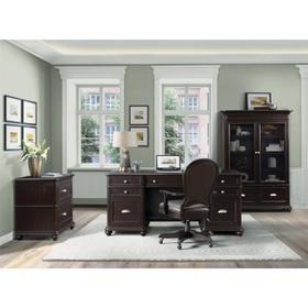 Clinton Hill - Executive Desk - Kohl Black Finish
