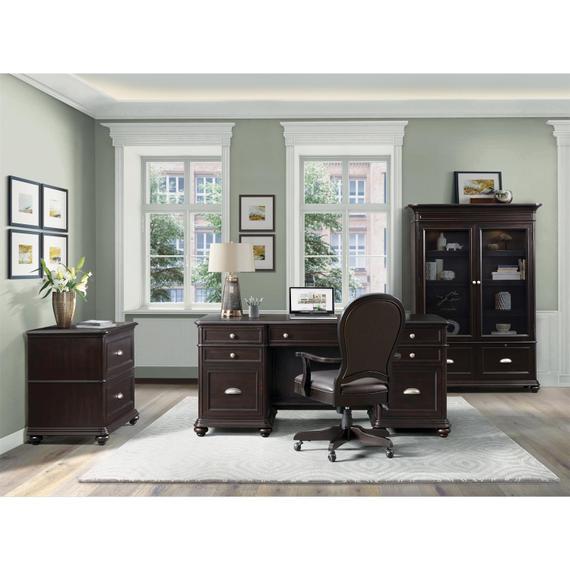 Riverside - Clinton Hill - Executive Desk - Kohl Black Finish