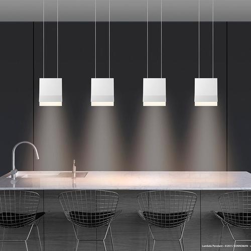Sonneman - A Way of Light - Lambda LED Pendant [Color/Finish=Bright Satin Aluminum]