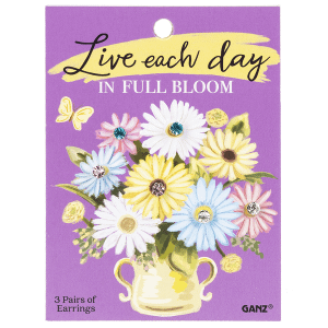 Daisy Earrings with Backer Card (12 set ppk.)